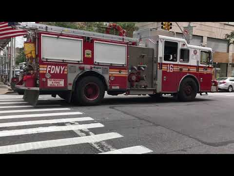 FDNY ENGINE 16 TAKING FROM A EMS CALL ON LEXINGTON AVENUE IN KIPS BAY, MANHATTAN IN NEW YORK CITY.