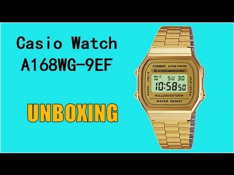 Casio Gold Watch A168WG-9EF : Unboxing