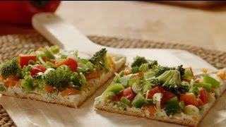 Pizza Recipe - How To Make Veggie Pizza Squares