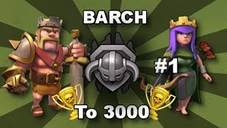 Clash of Clans - TH9 BARCH to 3000 #1: ATTACKING SNEAKY-DAVE!!!
