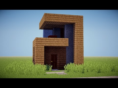 Tutorial casa moderna 6x6 hecha con madera minecraft for Casa moderna 6x6