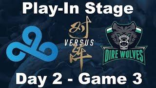 [2017 Worlds] Play In - D2 G3 - C9 vs DW - League of Legends - Cloud9 vs Dire Wolves