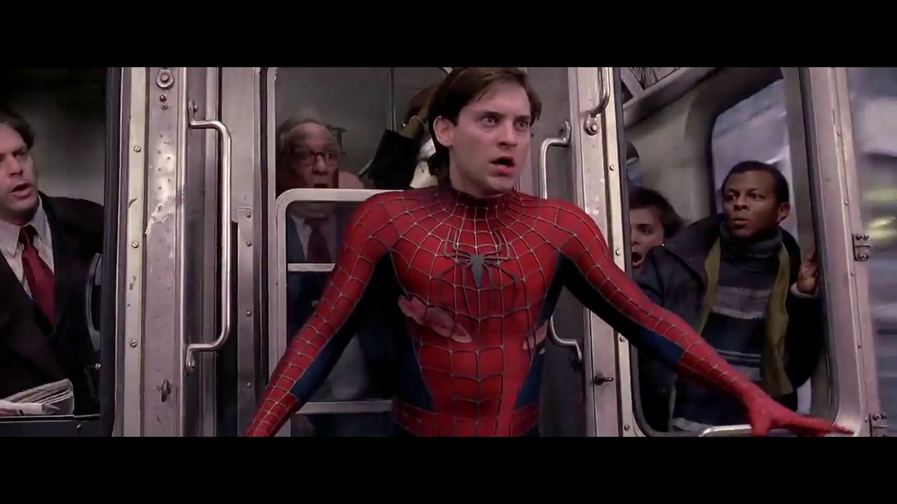 Spider Man Train stopping Scene in Hindi