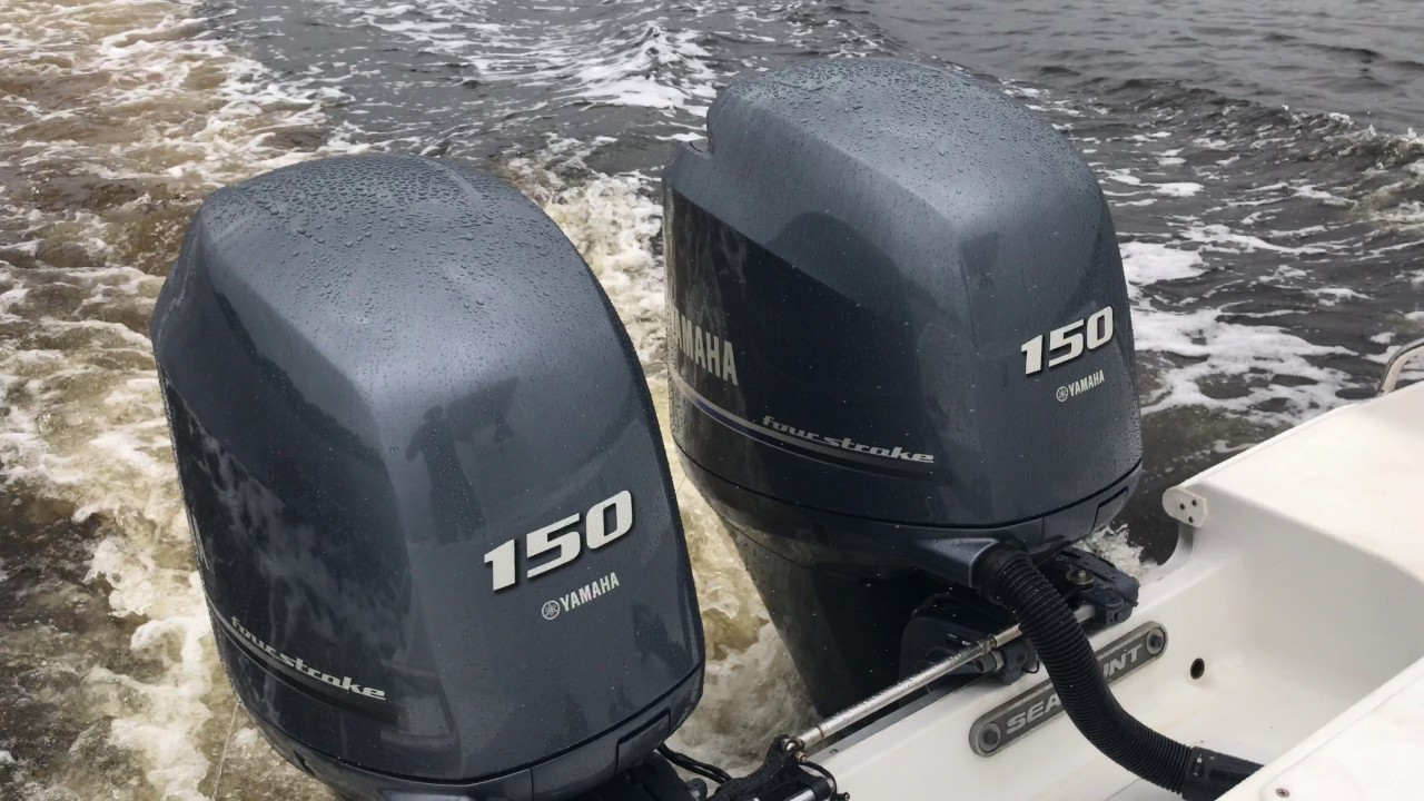 Twin 2014 Yamaha 150hp Outboard Test Drive