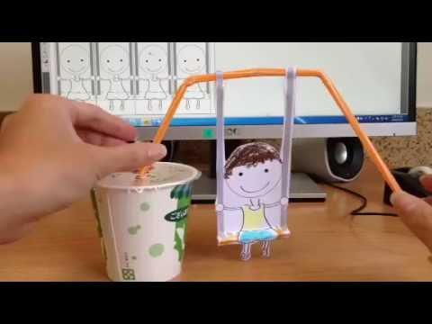 跟著蠟筆哥哥用吸管做「盪鞦韆」單槓體操親子創意手做 CRAFT DIY 勞作 手作 - YouTube