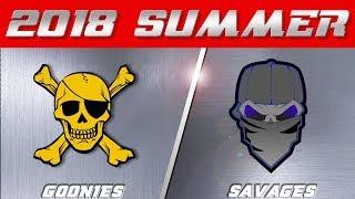 2018 Summer Season   Goonies vs Savages