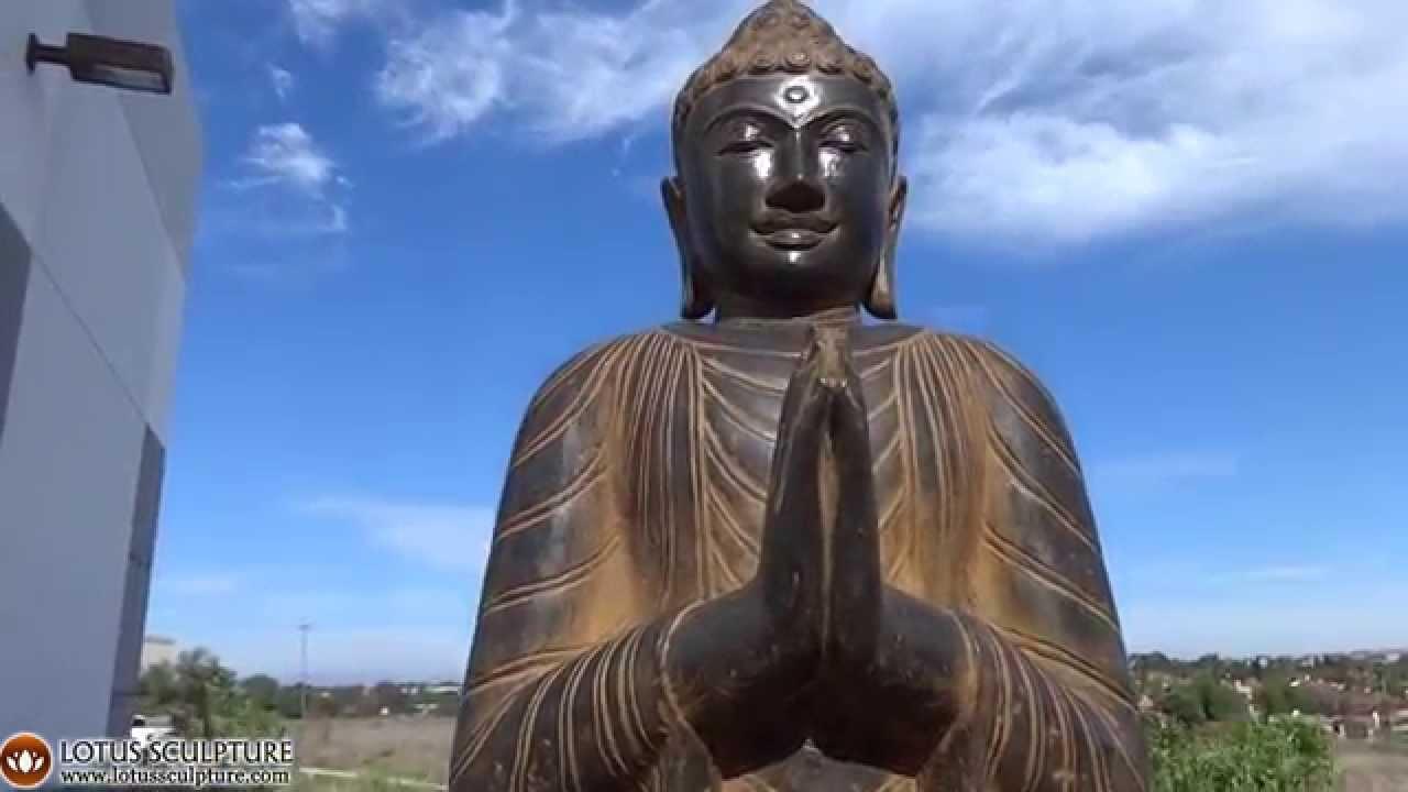 Namaste Garden Buddha Statue From Bali Lotussculpture Youtube