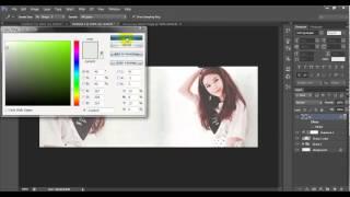 [TUT #5] Hướng dẫn design cover facebook đơn giản bằng photoshop cs6 || Sooyoung of SNSD