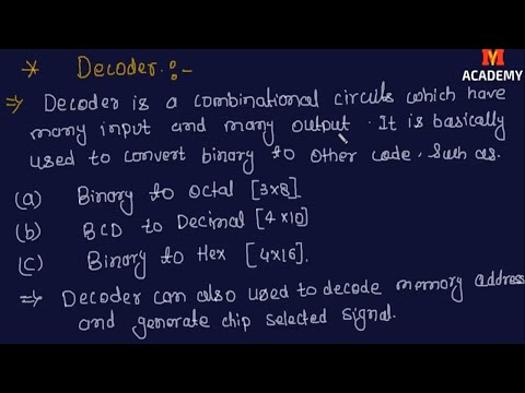 What is Decoder | Digital Electronics