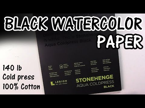 NEW! Black Stonehenge Aqua 100% Cotton Watercolor Paper - First Impressions