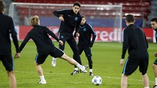 FC Barcelona: Final training session ahead of Leverkusen game