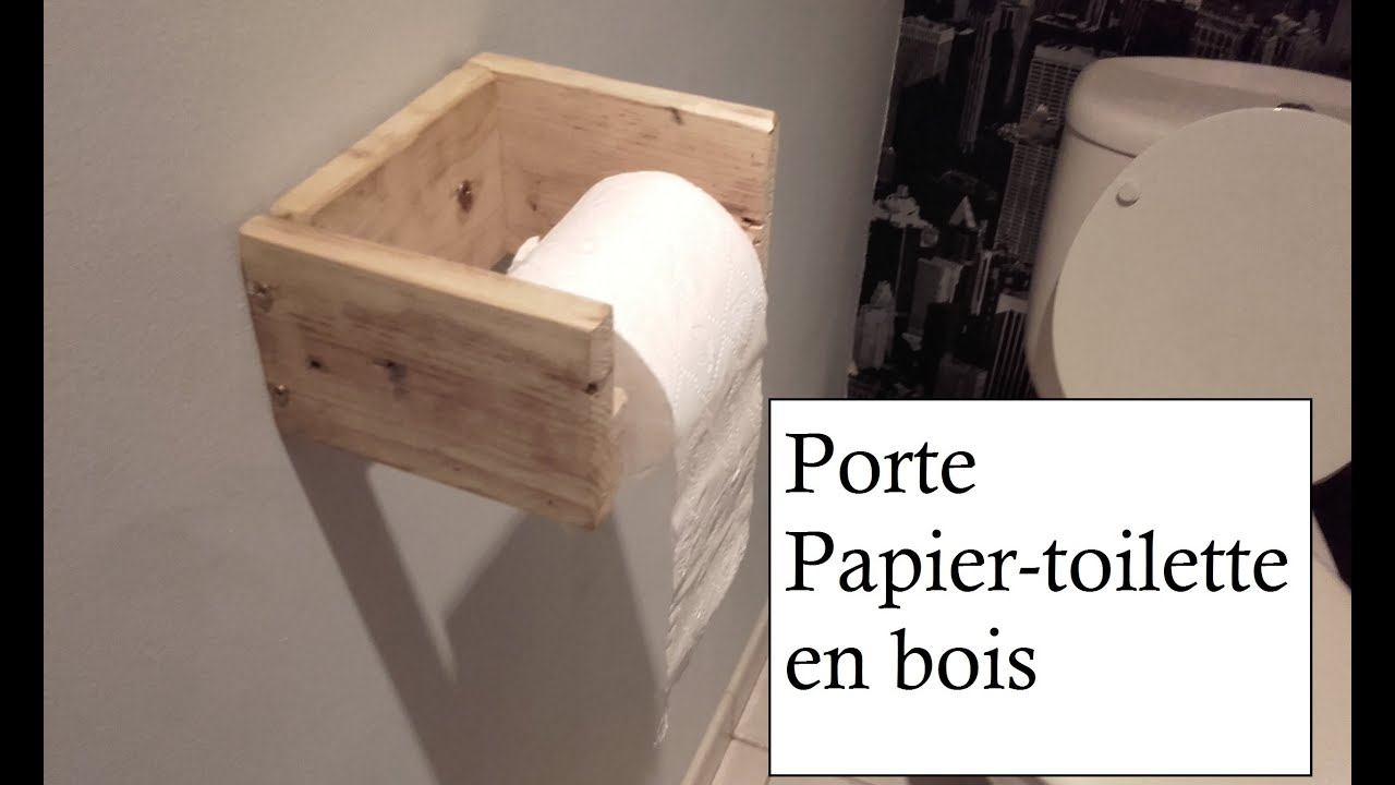 Fabrication porte papier toilette en bois simple youtube for Porte toilette