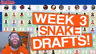 LET'S DRAFT! Week 3 Fantasy Football (DFS)