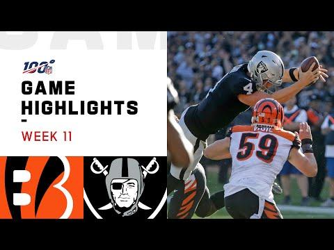 Bengals vs. Raiders Week 11 Highlights   NFL 2019