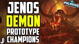 Paladins Prototype Champions Jenos, Demon & Survivor + Ranked 2.0 Datamined