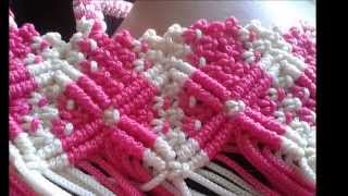 Repeat youtube video macrame bag project 1 by ging s.