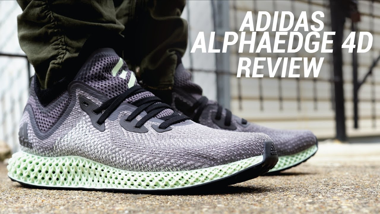 huge selection of d955f 5bb4b ADIDAS ALPHAEDGE 4D REVIEW - YouTube
