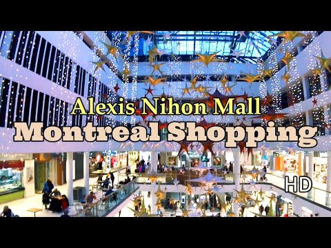 Shopping In Montreal During Christmas At Alexis Nihon At Atwater Metro