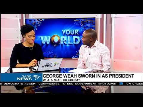 Nixon Katembo reacts to Weah's swearing in as Liberia president