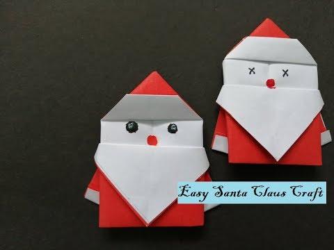 Santa Claus Origami | DIY Christmas Craft | Suhana's Crafty Studio