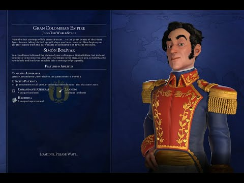 Civ VI Gran Colombia Domination Deity Huge Detailed Continents Marathon Blowing 3 Million Gold! 52 |