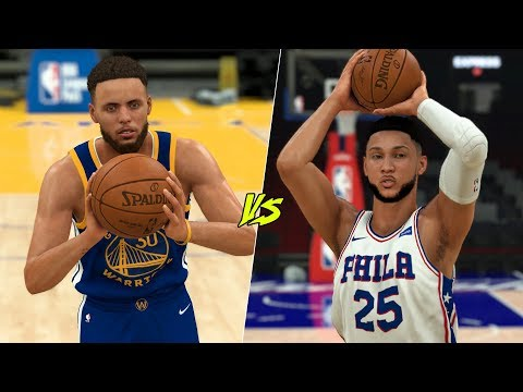 Can Stephen Curry Hit A Half Court Shot Before Ben Simmons Hits A Three? | NBA 2K20