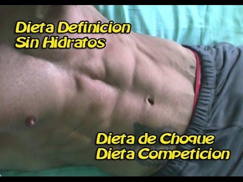 Dieta definicion mujer competicion