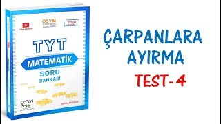 (2020) 345 TYT MATEMATİK ÇARPANLARA AYIRMA TEST-4 ÇÖZÜMLERİ