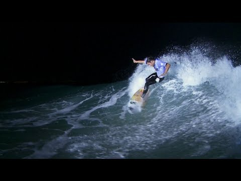 Jordy Smith Night Surfs in Durban - Red Bull Nightshift 2012 South Africa