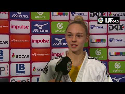 Interview Daria BILODID (UKR) Winner Dusseldorf Judo Grand Slam 18