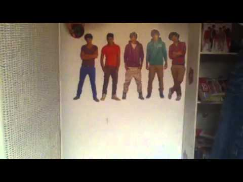 Sticking 1D Stickers On my Wall!
