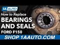 How To Replace Rear Axle Seals And Bearings 98 13 Ford F150 Truck