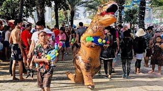 World's Biggest Water Fight ~ Songkran ~ Pattaya Thailand 4K