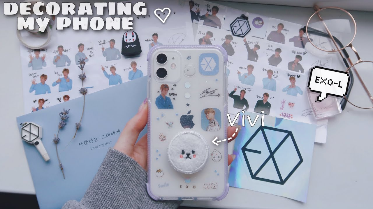 decorating my phone with EXO