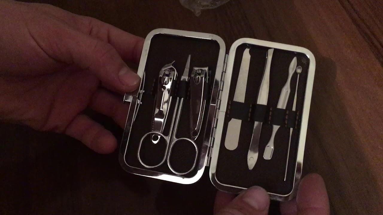 Portable Stainless Steel Nail Clippers Set - YouTube