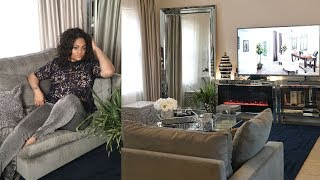 LIVING ROOM MAKEOVER || GLAM DECOR || Decorate With Me