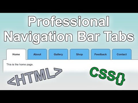 How To Build A Website #5 - Creating A Professional Navigation Bar #2 | Tabs [HTML & CSS Tutorial]