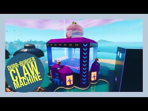 *NEW* Fortnite Durr-Burger Claw Machine
