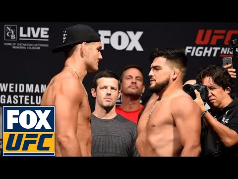 Chris Weidman vs. Kelvin Gastelum | Weigh-In | UFC Fight Night