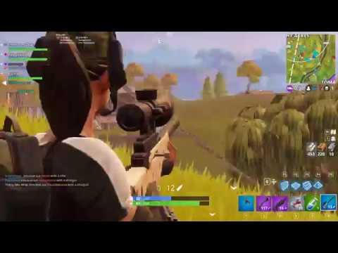 Fortnite - Sniper beruntung, Noob sedang beraksi!