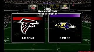 Madden NFL 2004 Demo Games | ATL @ BAL | Epic Game!!!!