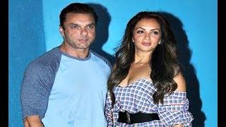 Sohail Khan With Hot Wife Seema Sachdev Khan At Arbaaz Khan Birthday Party