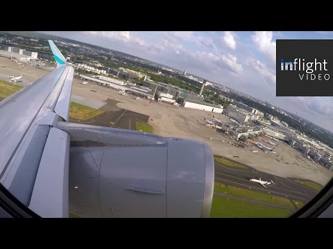 Eurowings Airbus A320 Sunset Buzzsaw Departure from Dusseldorf! (with ATC)