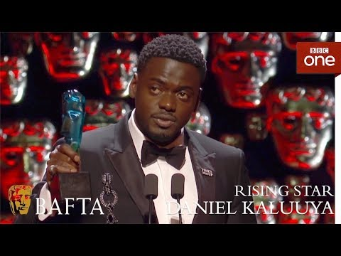 Daniel Kaluuya wins the EE Ris bafta awards 2018