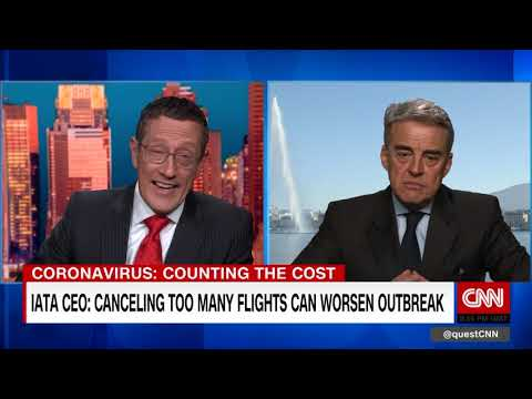 IATA CEO: Canceling Too Many Flights Can Worsen Coronavirus Outbreak