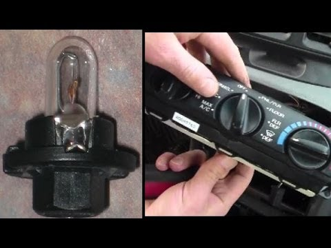 How To Remove Install Light Bulbs Behind Heater Air