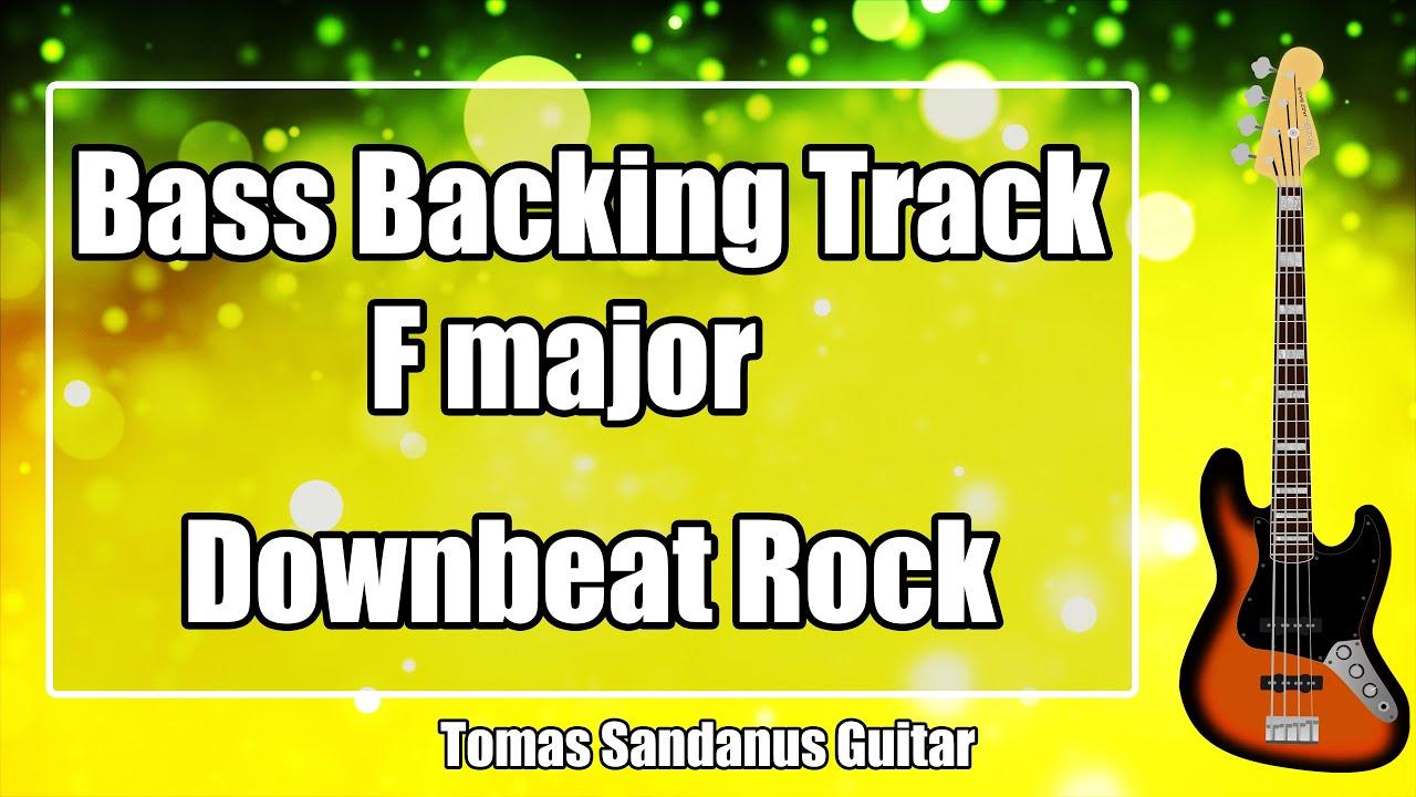 Bass Backing Track F major - 80s Downbeat Sad Ballad Slow Classic Rock - NO BASS Jam Backtrack