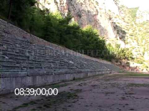 0245 The Pythian Games stadium at Delphi, Greece
