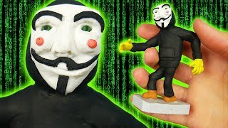 Making PROJECT ZORGO in POLYMER CLAY! (GAME MASTER, HACKER)