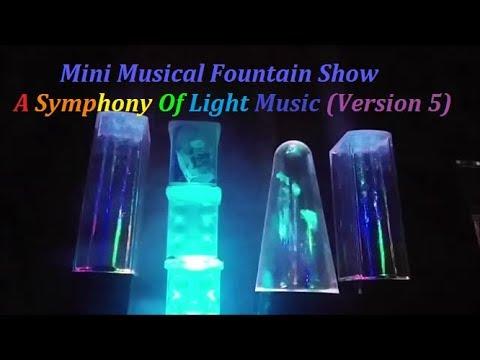 Mini Musical Fountain Show 迷你音樂噴泉表演 - A Symphony Of Lights music(Version 5)